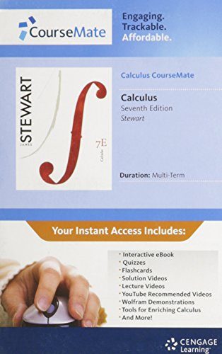 9781111674922: Math CourseMate Printed Access Card for Stewart's Calculus, 7th