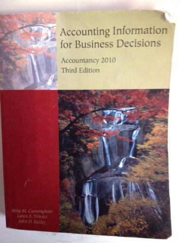 9781111719296: Accounting Information for Business Decisions (Custom Title for University of Missouri's ACCTY 2010)