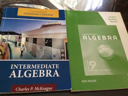 9781111752057: Intermediate Algebra: Glendale Community College Edition
