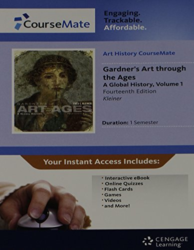 CourseMate: Gardner's Art Through the Ages Vol I A global History 14e Acess Card w/Ebook: Fred ...