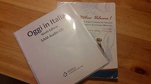 9781111773410: Oggi in Italia: Volume I, a First Course in Italian with Student Activities Manual, 9th Edition