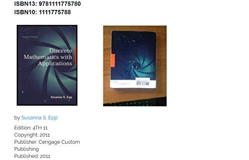 9781111775780: DISCRETE MATHEMATICS W/APPL.>C