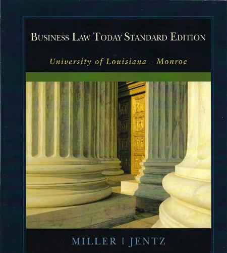 9781111776619: Business Law Today Standard Edition (University of Louisiana - Monroe)