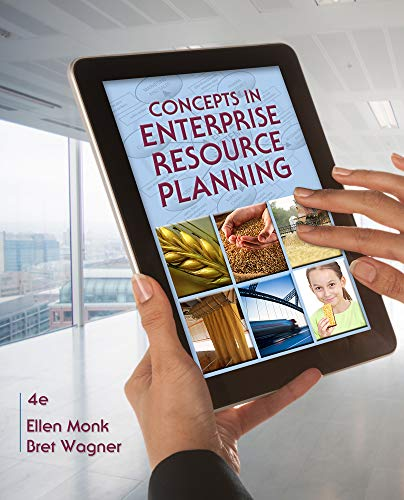 Concepts in Enterprise Resource Planning: Monk, Ellen; Wagner,