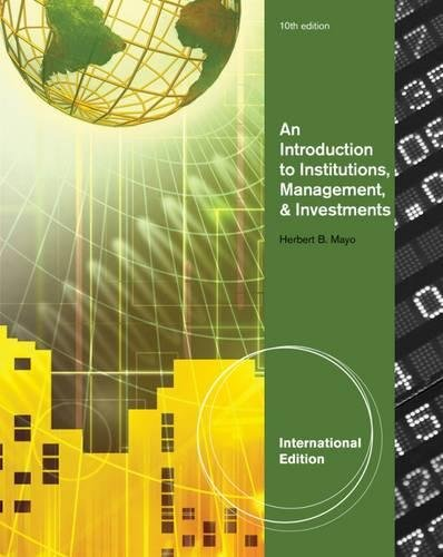 9781111820640: Introduction To Institutions, Management, And Investments,10Ed