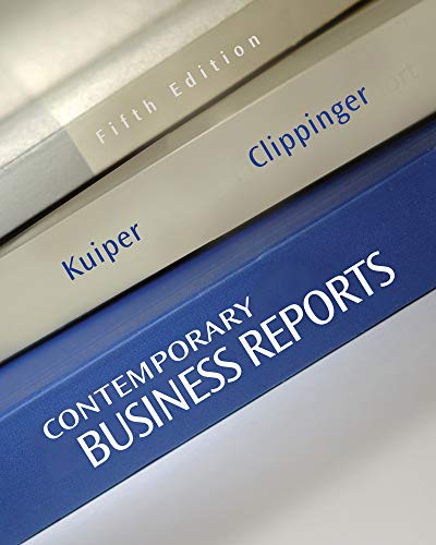 9781111820855: Contemporary Business Reports