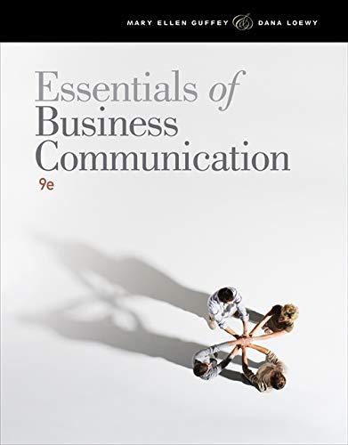 9781111821227: Essentials of Business Communication