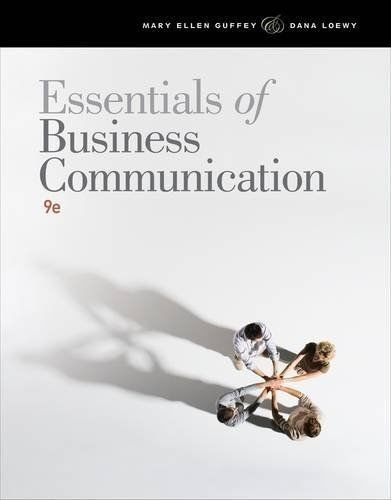 9781111821234: Essentials of Business Communication