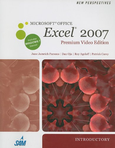 9781111822330: New Perspectives on Microsoft Office Excel 2007, Introductory, Premium Video Edition (Book Only) (New Perspectives (Course Technology Paperback))