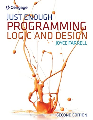Just Enough Programming Logic and Design (1111825955) by Farrell, Joyce