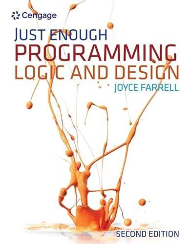 9781111825959: Just Enough Programming Logic and Design