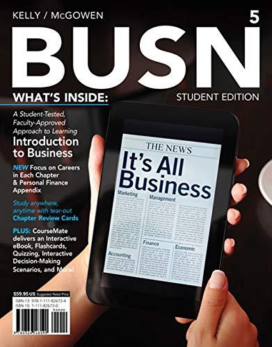 BUSN 5, Student Edition, 5th Edition: Marcella Kelly, Jim