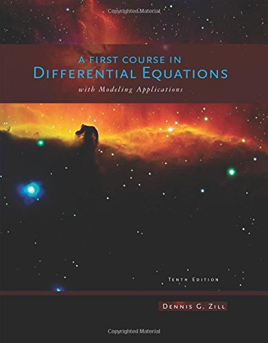 9781111827052: A First Course in Differential Equations with Modeling Applications