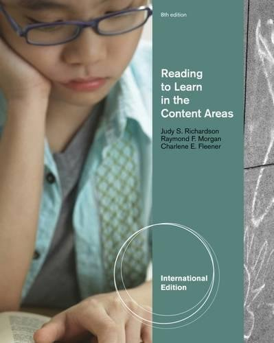 Reading To Learn In The Content Areas 8Th Edition.