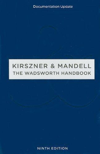 The Wadsworth Handbook, Documentation Update: Laurie G. Kirszner,