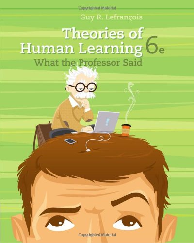 9781111829742: Theories of Human Learning: What the Professor Said (PSY 361 Learning)