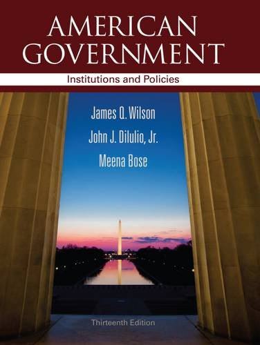 9781111830014: American Government: Institutions and Policies