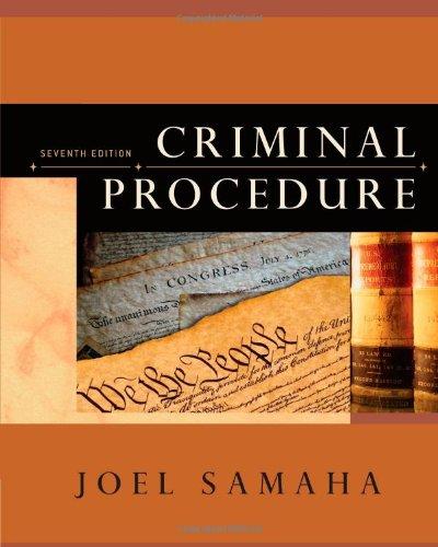 9781111830274: Criminal Procedure