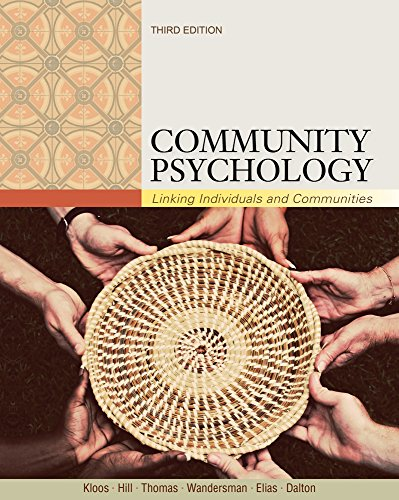 9781111830380: Community Psychology: Linking Individuals and Communities (Cengage Advantage Books)