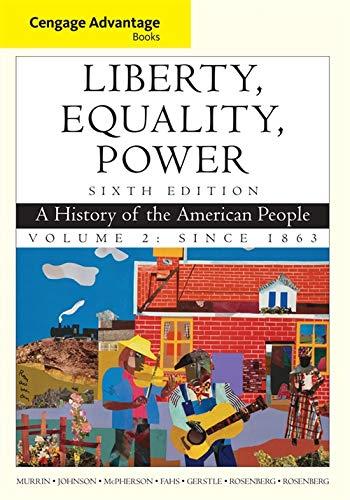 Cengage Advantage Books: Liberty, Equality, Power: A: John M. Murrin,