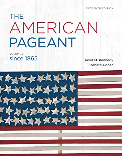 9781111831431: The American Pageant, Volume 2