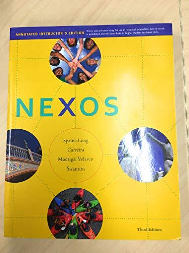 9781111833336: NEXOS -TEXT-W/CD >ANNOT.INST