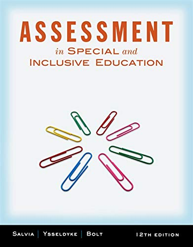 9781111833411: Assessment: In Special and Inclusive Education