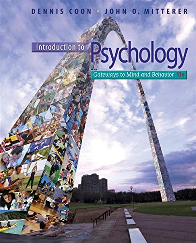 9781111833633: Introduction to Psychology: Gateways to Mind and Behavior with Concept Maps and Reviews (Psy 113 General Psychology)