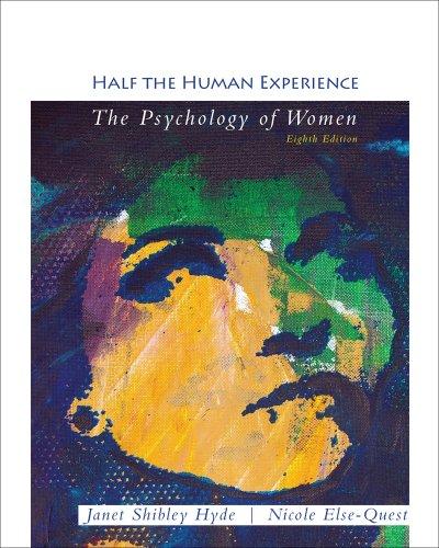 9781111834104: Cengage Advantage Books: Half the Human Experience