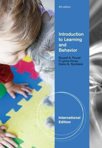 9781111835514: Introduction to Learning and Behavior