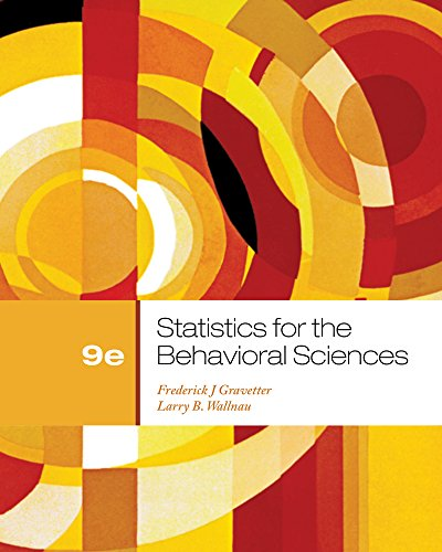 9781111835767: Cengage Advantage Books: Statistics for the Behavioral Sciences