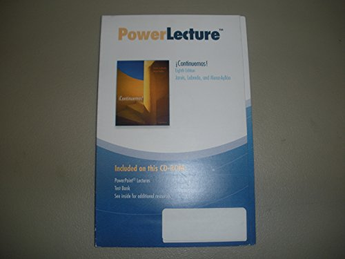 Continuemos! Eighth Edition Jarvis, Lebredo, and Mena-ayllon (Power Lecture)