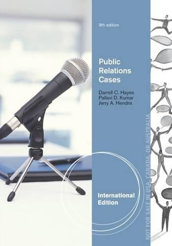 9781111836825: Public Relations Cases, International Edition