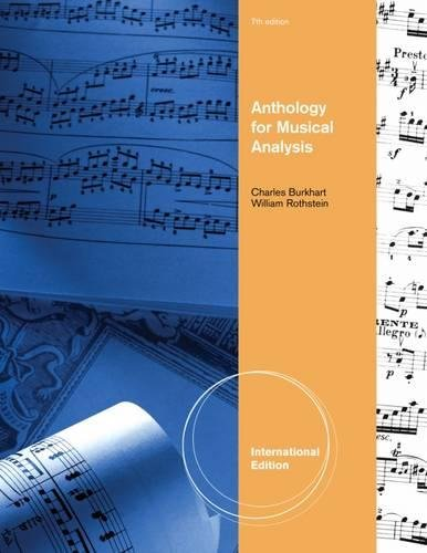 9781111837754: Anthology For Musical Analysis