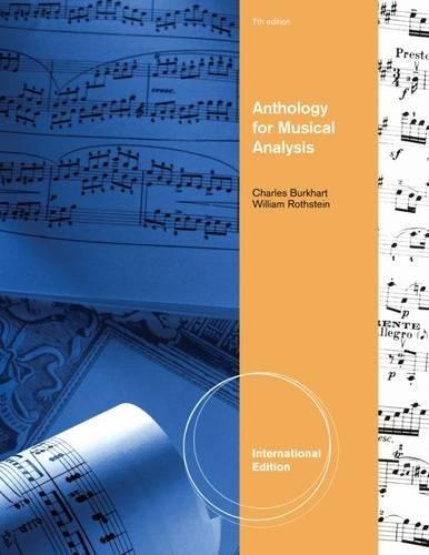 9781111837754: Anthology for Musical Analysis, International Edition