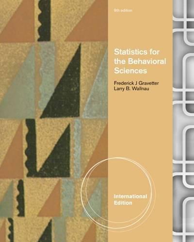 9781111839550: Statistics for the Behavioral Sciences