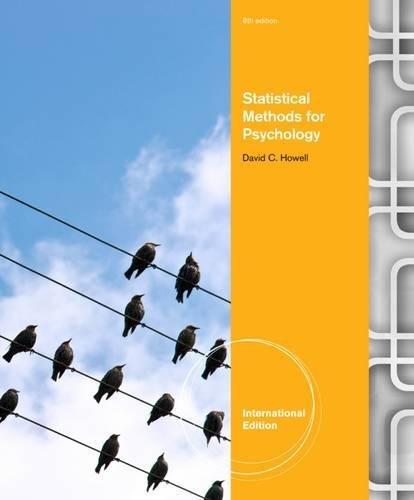 9781111840853: Statistical Methods for Psychology. David Howell