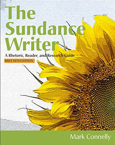 9781111841379: The Sundance Writer: A Rhetoric, Reader, and Research Guide, Brief