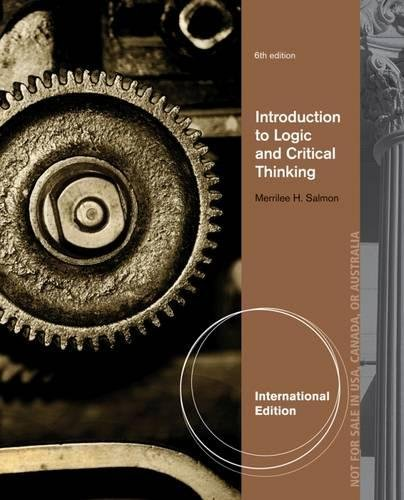 9781111841522: Introduction to Logic and Critical Thinking