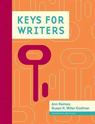9781111841751: Keys for Writers