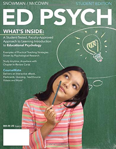 ED PSYCH (with CourseMate, 1 term (6: Snowman, Jack; McCown,