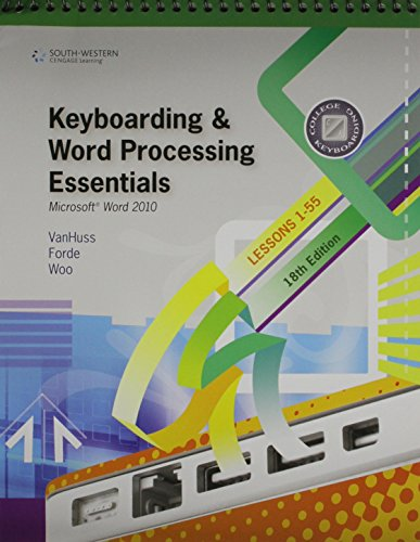 9781111878931: Bundle: Keyboarding and Word Processing Essentials, Lessons 1-55: Microsoft Word 2010, 18th + Keyboarding Pro Deluxe 2 Student License (with ... + Microsoft Office 2010 180-day Subscription