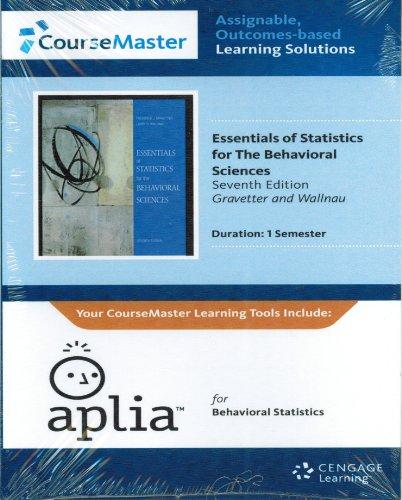9781111928407: Essentials of Statistics for the Behavioral Sciences Code 1 Semester