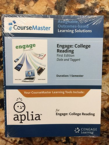 Aplia Online Homework System, 1-Semester Access to Accompany Dole/Taggart's Engage: ...