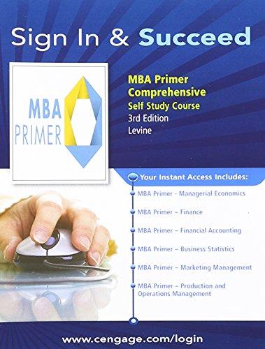 9781111962500: MBA Primer: Comprehensive 3.0 Self Study Printed Access Card