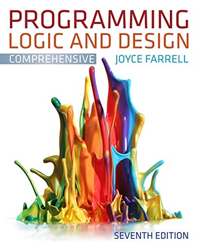 9781111969752: Programming Logic and Design, Comprehensive