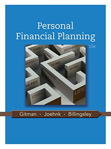 Personal Financial Planning (1111971633) by Lawrence J. Gitman; Michael D. Joehnk; Randy Billingsley