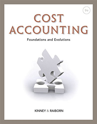 9781111971724: Cost Accounting : Foundations and Evolutions