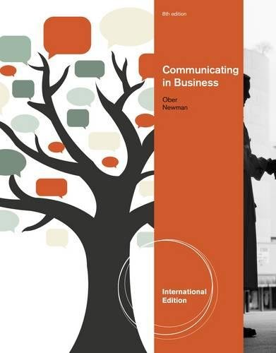 9781111971762: Communicating in Business, International Edition