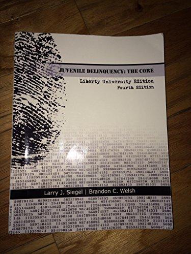 9781111974206: Juvenile Delinquency: Core